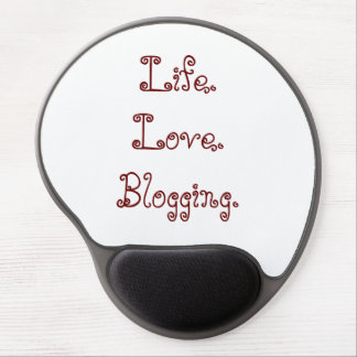 Mousepad De Gel Vida. Amor. Blogging. Gel Mousepad