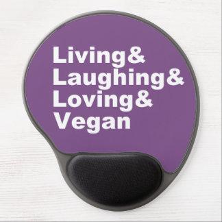 Mousepad De Gel Vida e riso e amor e Vegan (brancos)