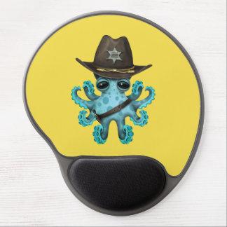 Mousepad De Gel Xerife bonito do polvo do bebê azul