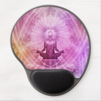 Mousepad De Gel Zen espiritual da meditação da ioga colorido
