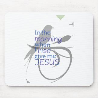 Mousepad Dê-me o elogio de Jesus e o design do culto
