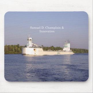Mousepad de Samuel D. Champlain & de inovação