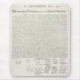Mousepad Declaração dos Estados Unidos de independência
