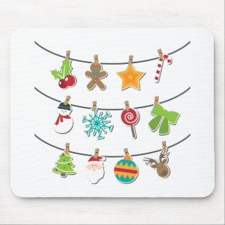 Mousepad Decoração de suspensão do Xmas do Natal bonito