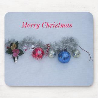 Mousepad Decorações do Feliz Natal na neve