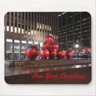 Mousepad Decorações do feriado do Natal NYC da Nova Iorque