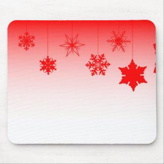 Mousepad Decorações vermelhas do Natal
