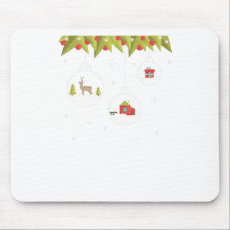 Mousepad decorativo-Natal-bola-suspensão