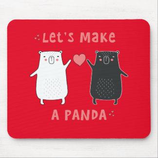 Mousepad deixe-nos fazer uma panda