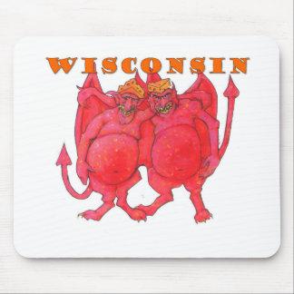 Mousepad Demónios de Wisconsin Cheesehead