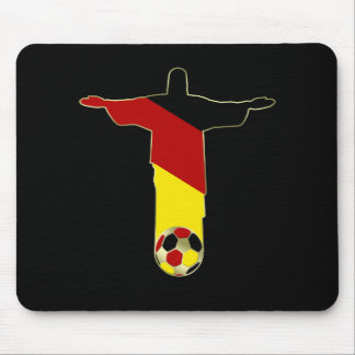 Mousepad Der Erlöser Brasilien Deutshland Flagge de