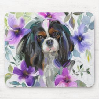 Mousepad descuidado Tricolor da arte do cão da