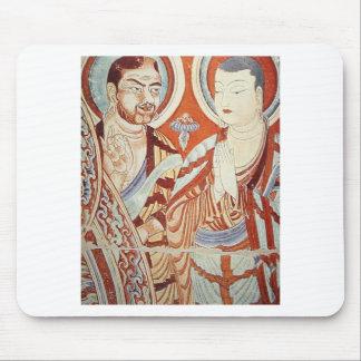 Mousepad Desenho de monges budistas asiáticas centrais