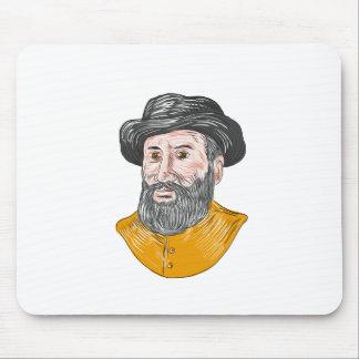 Mousepad Desenho do busto de Fernão de Magalhães