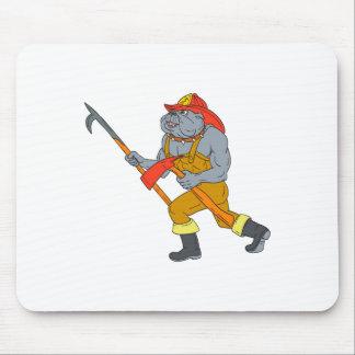 Mousepad Desenho do machado do fogo de Pike Pólo do