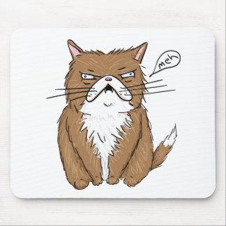Mousepad Desenho mal-humorado engraçado do gato de Meh