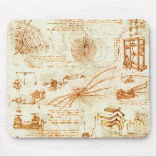Mousepad Desenho técnico & esboços por Leonardo da Vinci
