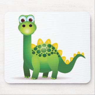 Mousepad Desenhos animados bonitos do dinossauro verde