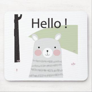 Mousepad Desenhos animados bonitos felizes do urso de