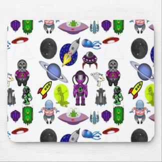 Mousepad Desenhos animados do espaço