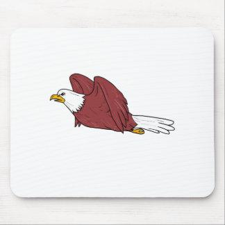Mousepad Desenhos animados do vôo da águia americana