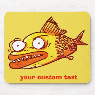 Mousepad desenhos animados engraçados dos peixes feios