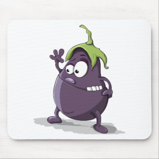 Mousepad Desenhos animados Toothy Eyed da beringela vegetal