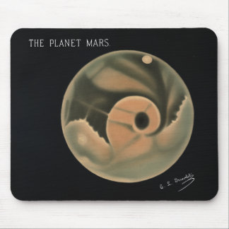 Mousepad Desenhos de Trouvelot - o planeta Marte