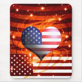 Mousepad design americano do coração do orgulho