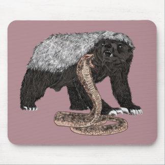 Mousepad Design animal sem medo do cobra das caras do
