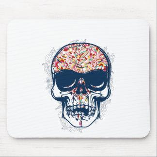 Mousepad design colorido do crânio zombi inoperante
