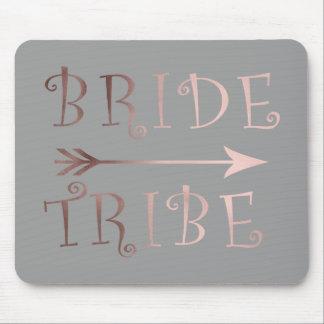 Mousepad design cor-de-rosa do tribo da noiva da folha de