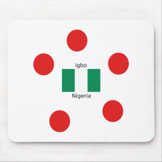 Mousepad Design da língua da bandeira e do Igbo de Nigéria