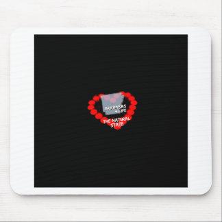 Mousepad Design do coração da vela para o estado de