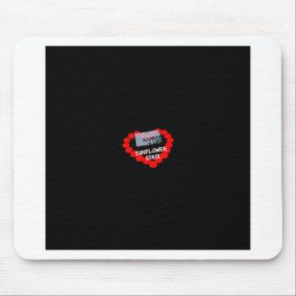Mousepad Design do coração da vela para o estado de Kansas