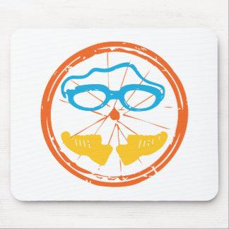 Mousepad Design do divertimento do Triathlon