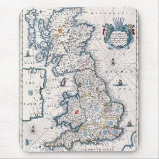 Mousepad Design do História-amante do mapa de Grâ Bretanha