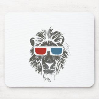 Mousepad design do leão do vintage com gáss da cor