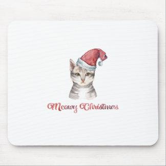 Mousepad Design do Natal de Meowy para amantes do gato