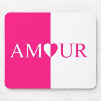 Mousepad Design do rosa do amor do CASO AMOROSO