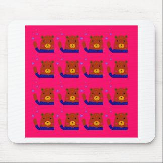 Mousepad Design do rosa dos ursinhos
