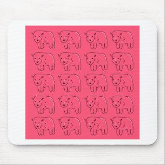 Mousepad Design doce cor-de-rosa pintado ursinhos