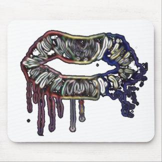 Mousepad Design dos lábios do arco-íris
