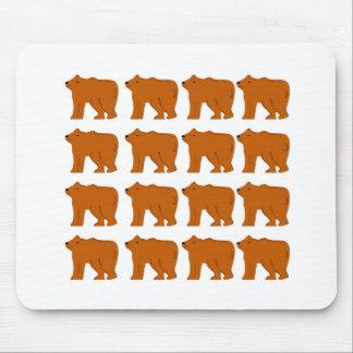 Mousepad Design dos ursinhos no branco