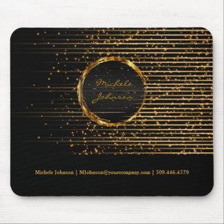 Mousepad Design dourado abstrato da luz da estrela