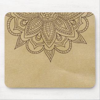 Mousepad Design elegante da flor da mandala