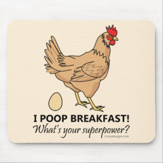 Mousepad Design engraçado do pequeno almoço dos tombadilhos