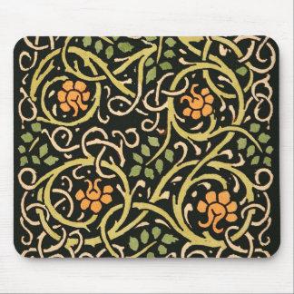 Mousepad Design floral preto do impressão da arte de