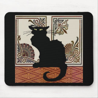 Mousepad Design gótico preto do estilo do gato