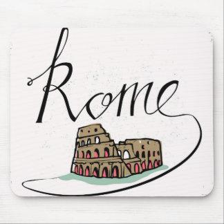 Mousepad Design indicado por letras da mão de Roma